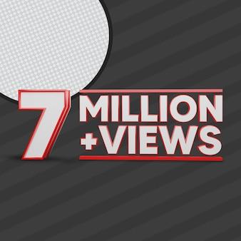 7 miljoen views 3d render