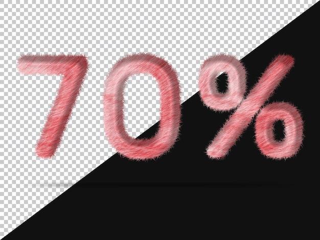 70 procent met realistisch 3d-bont