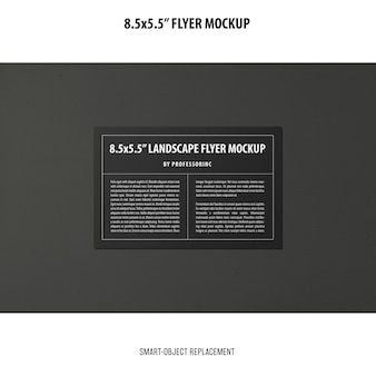 8.5x5.5 flyer mockup