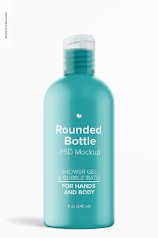 8 oz ronde fles met schijfdop mockup