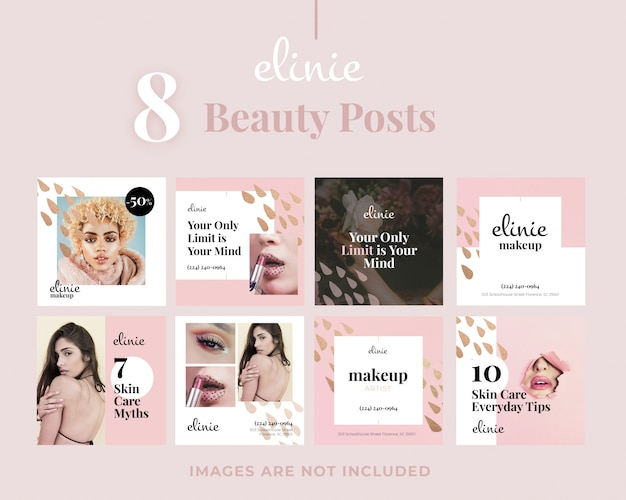 8 schoonheidssalon square smm-berichten