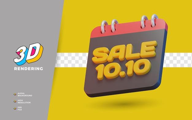 9.9 día de compras promoción de venta 3d render