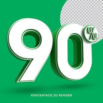 90 procent 3d render groene kleur
