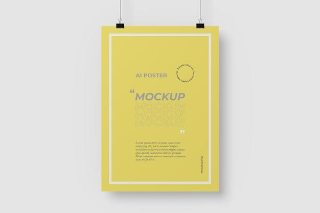 A1 hangende poster mockup