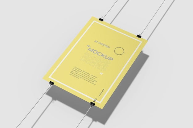 A1 poster mockup boven weergave