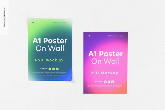 A1-posters op muurmodel