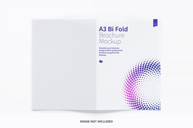 A3 bi fold brochure mockup