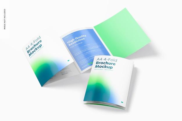 A4 4-voudige brochures mockup