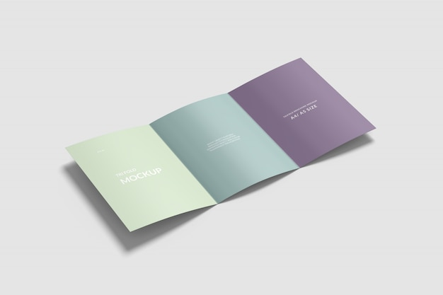 A4 / a5 tri-fold brochure mockup