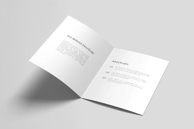 A4 / a5 tweevoudig brochure mockup geopend