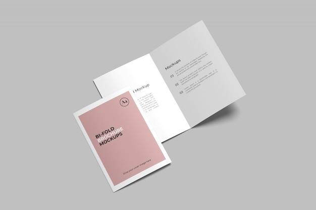 A4 / a5 tweevoudig brochure mockup