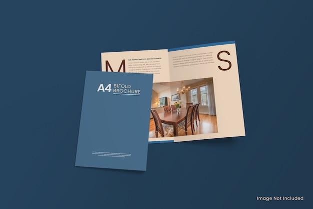 A4 bi-fold brochure flyer mockup