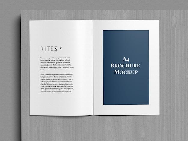 A4 brochure tweevoudig mockup