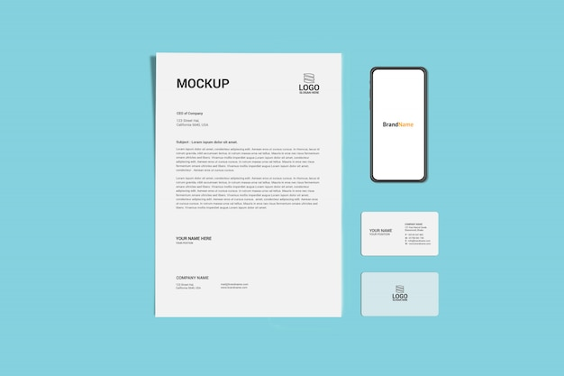 A4 business page mock-up