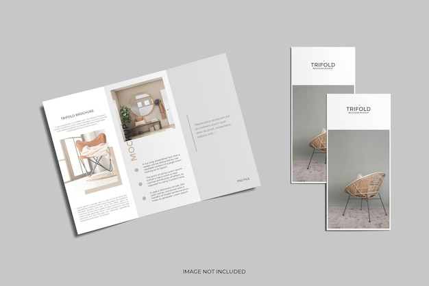A4 driebladige brochuremodel