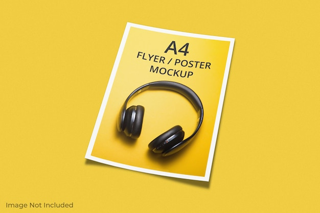 A4-flyer brochure mockup ontwerp
