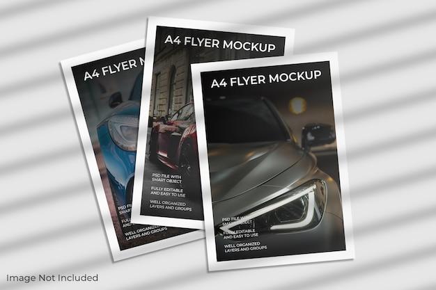 A4 flyer brochure mockup