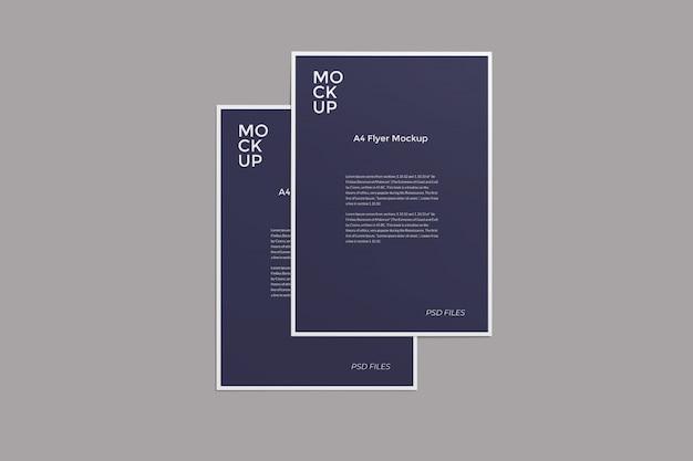 A4 flyer mockup bovenhoekweergave