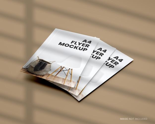 A4 flyer-mockup in 3d-rendering