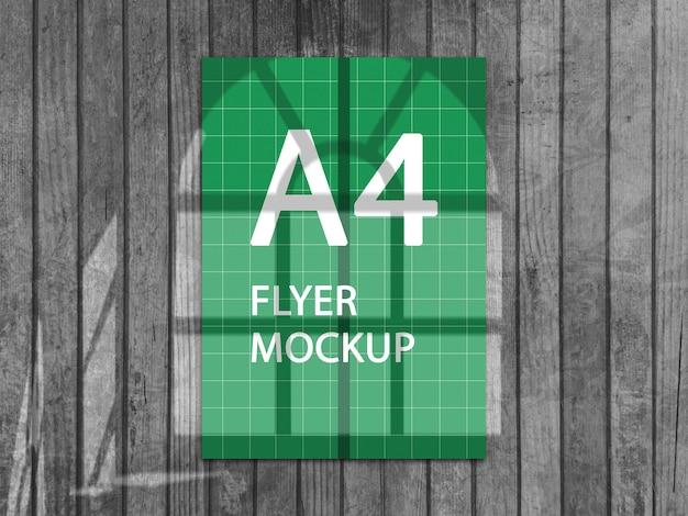 A4 flyer mockup ontwerpweergave