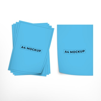 A4 flyer of document mockup ontwerp