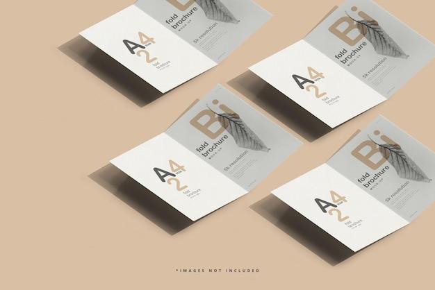 A4-formaat bi-vouw brochure mockup