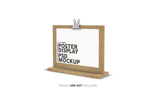 A4-formaat horizontale posterweergave psd mockup Premium Psd