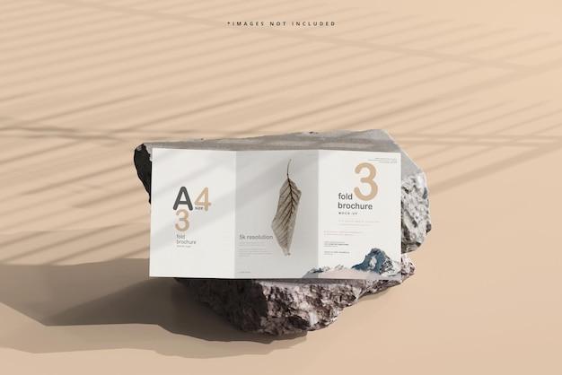 A4-formaat tri-fold brochure mockup