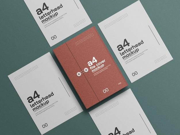 A4 kraftpapier omslag met briefhoofd