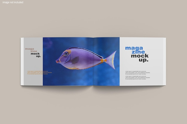A4 liggend tijdschriftmodel