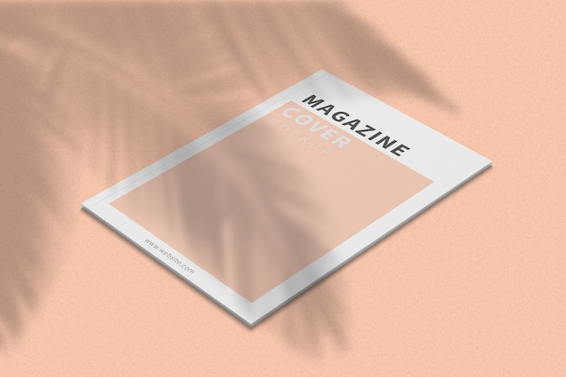 A4 magazine cover mockup right view
