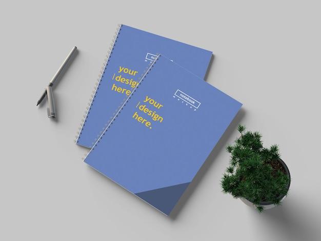 A4-notitieboekjes mockup