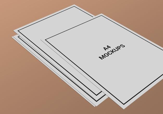 A4-pagina mock-up