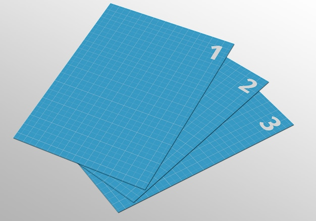 A4-paginamodel voor flyer, factuur, briefpapier en andere