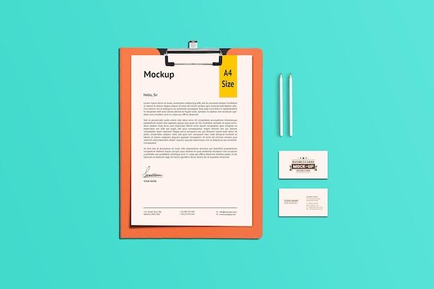 A4-papier en klembordmodel