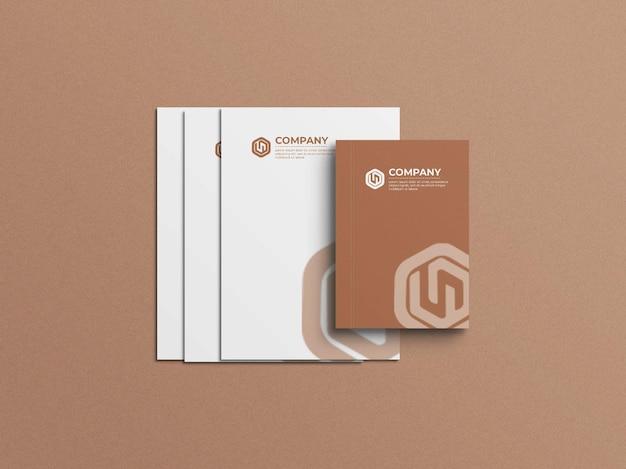A4-papier met mockup voor notebookomslag