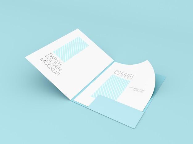 A4-papier met mockup voor presentatiemap