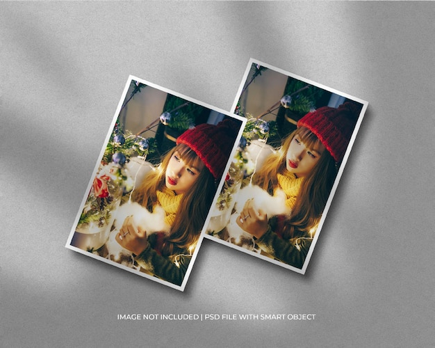 A4-papieren frame fotomodel voor kerstmis en fijne kerstdag