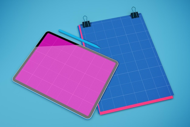 A4 papieren tabletmodel4