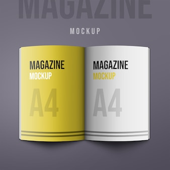 A4 portrait catalogue-magazine mock-up