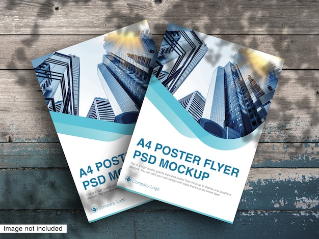 A4 poster flyer psd mockup premium psd