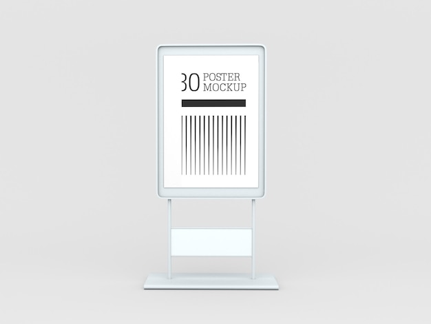 A4 poster reclame mockup
