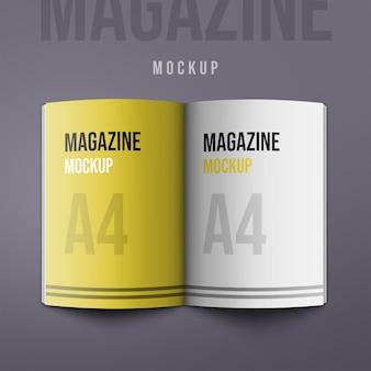 A4 retrato catálogo-revista maqueta