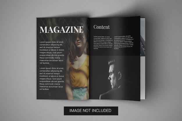 A4 tijdschrift mockup bovenaanzicht