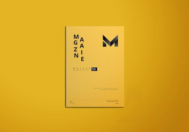 a4 tijdschrift mockup