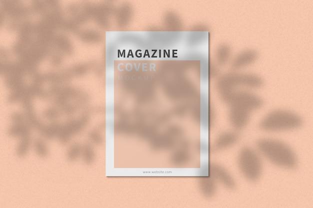 A4 tijdschriftomslag mockup bovenaanzicht