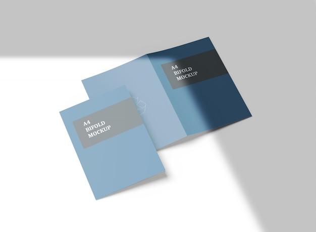 A4 tweevoudig brochure mockup