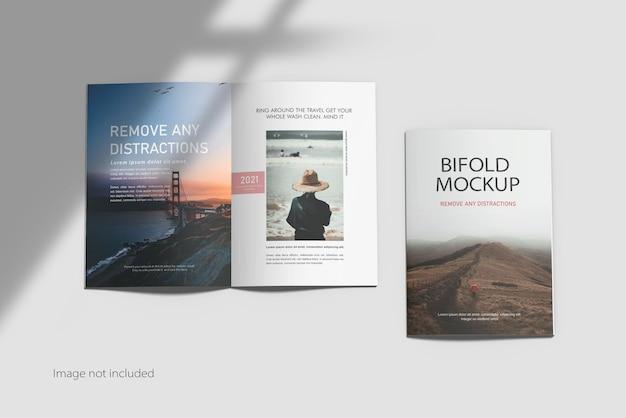 A4 tweevoudige brochure mockup