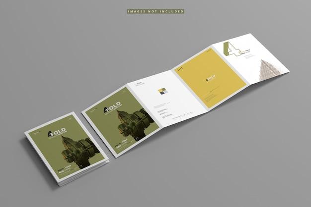 A4 viervoudig brochuremodel