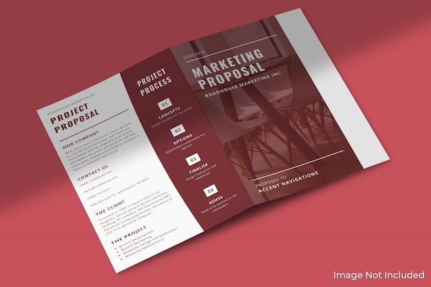 A4 zakelijke tweevoudige brochure mockup